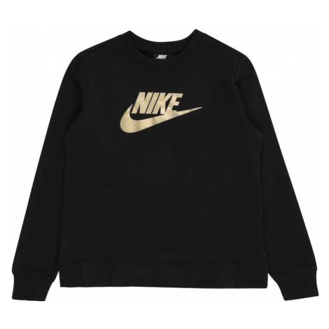 Nike Sportswear Bluzka sportowa złoty / czarny