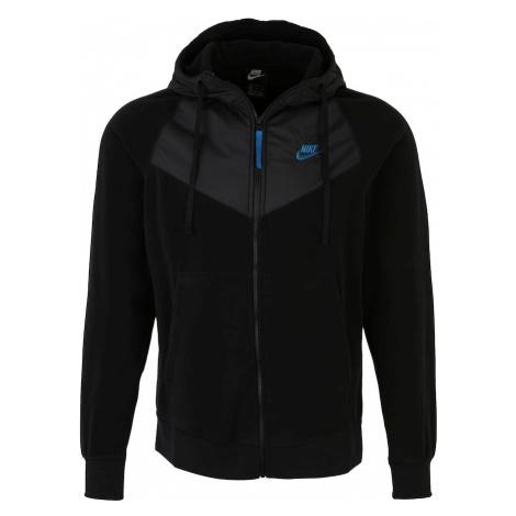 Nike Sportswear Bluza polarowa niebieski / czarny