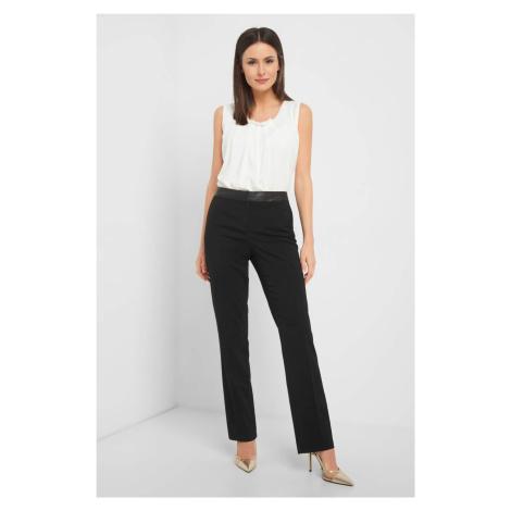 Spodnie straight w kant Orsay