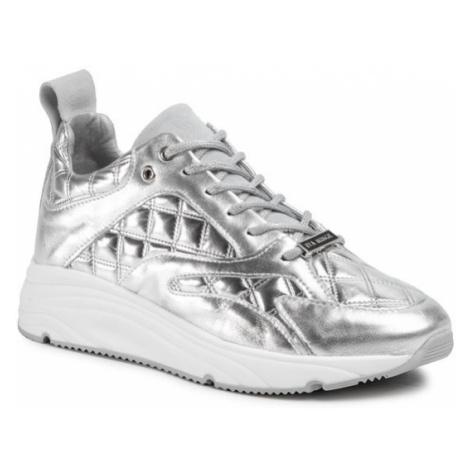 Eva Minge Sneakersy EM-60-08-001123 Srebrny