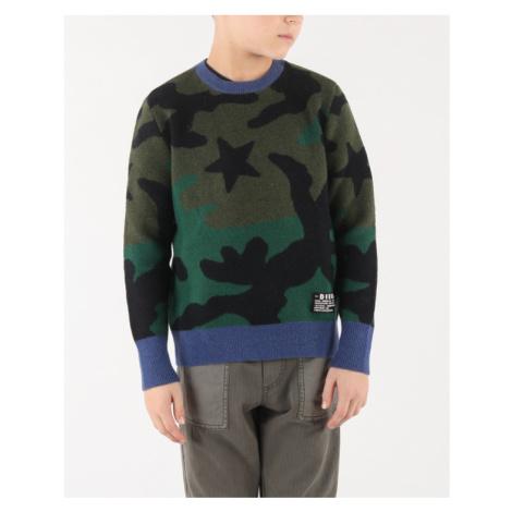 Diesel Kroxi Sweter dziecięcy Zielony Wielokolorowy