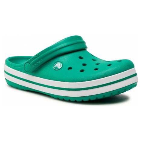 Klapki CROCS - Crocband 11016 Deep Green/White