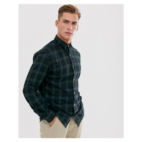 Selected Homme check shirt in green