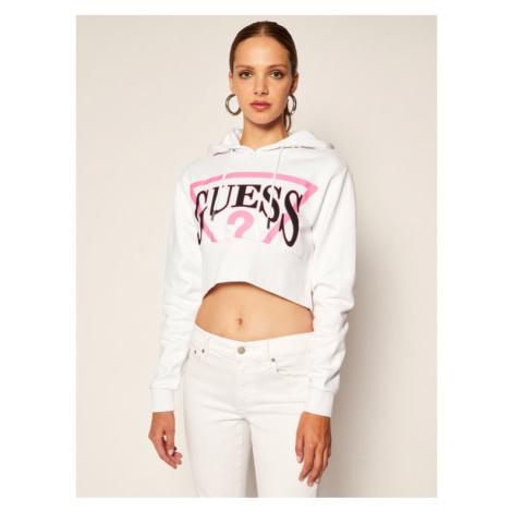 Guess Bluza Geneva W0YQ65 K68I0 Biały Regular Fit