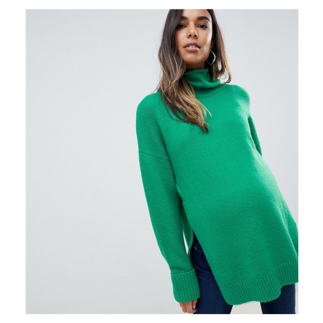 ASOS DESIGN Maternity Nursing chunky jumper in oversize with high neck