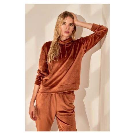 Bluza z kapturem damska Trendyol Velvet