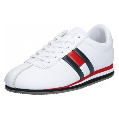 Tommy Jeans Trampki niskie 'TRIXIE 1A1' biały / ciemny niebieski / czerwony Tommy Hilfiger