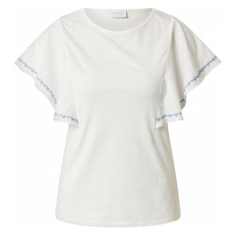 VILA Koszulka biały / granatowy