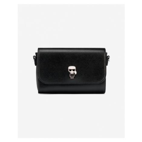 Karl Lagerfeld Ikonik Metal Pin Cross body bag Czarny
