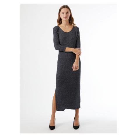 Szara sweterkowa sukienka maxi Dorothy Perkins