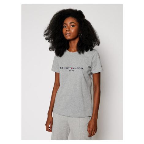 TOMMY HILFIGER T-Shirt Th Ess C-Nk Reg WW0WW28681 Szary Regular Fit