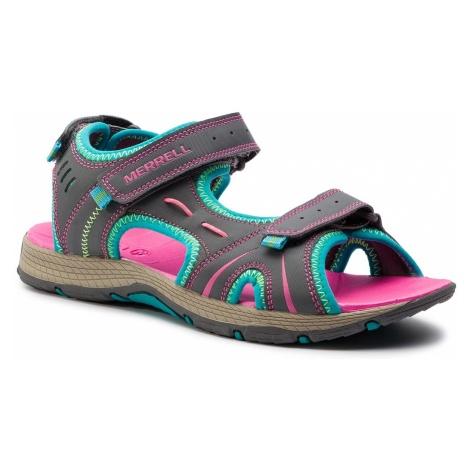 Sandały MERRELL - Panther Sandal MY53428A Grey/Turq