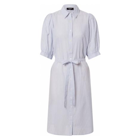 SISTERS POINT Sukienka koszulowa 'ILINA' biały / podpalany niebieski