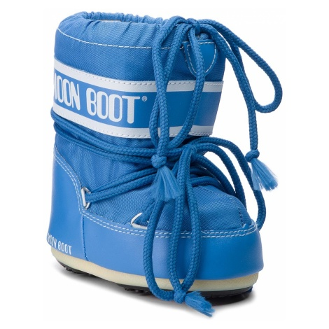 Śniegowce MOON BOOT - Mini Nylon 14004300069 Azure
