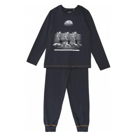SANETTA Piżama 'Pyjama long' ciemnoszary