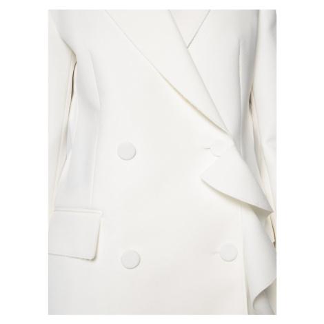 MSGM Płaszcz przejściowy 2841MDG14 207100 02 Biały Regular Fit