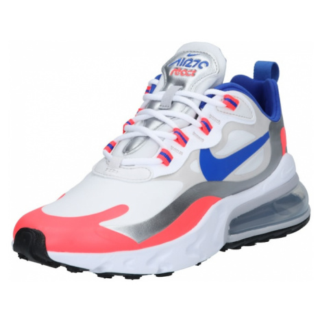 Nike Sportswear Trampki niskie 'Air Max 270 React' biały / niebieski / srebrny / łososiowy