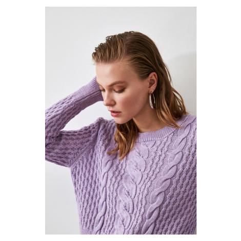 Trendyol Lila Knitted Detailed Knitwear Sweater