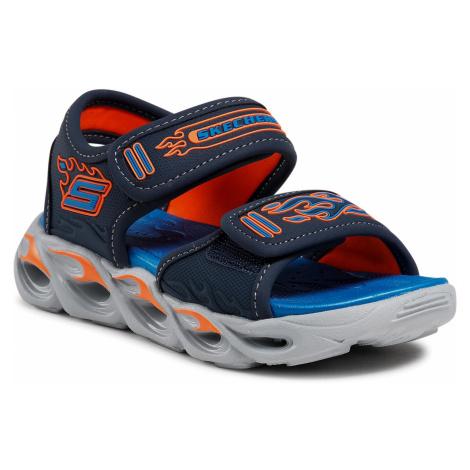 Sandały SKECHERS - Thermo-Splash 400109L/NVOR Nvy/Orng