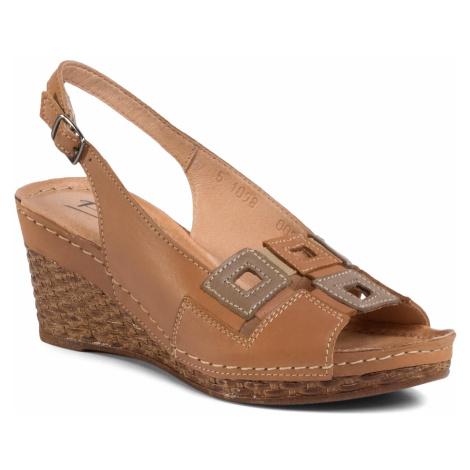 Sandały POLLONUS - 5-1098-005 Rudy/Capuccino