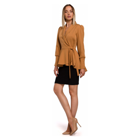 Made Of Emotion Woman's Jacket M529 Cinnamon