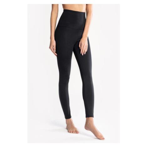 Czarne damskie bawełniane legginsy Mrs Fitness