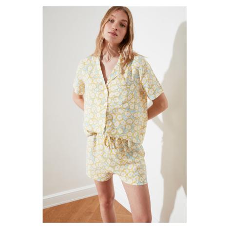 Trendyol Floral Patterned Woven Pyjama Set
