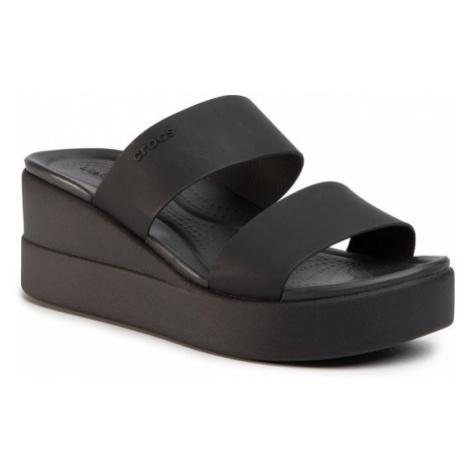 Crocs Klapki Brooklyn Mid Wedge W 206219 Czarny