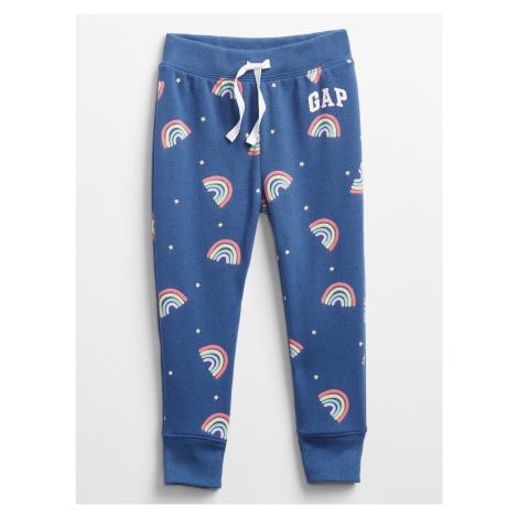 GAP niebieski dziecięce spodnie dresowe s barevnými motivy