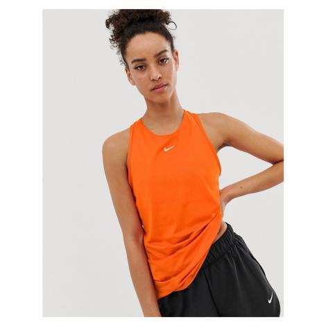 Nike Pro Training tank in orange