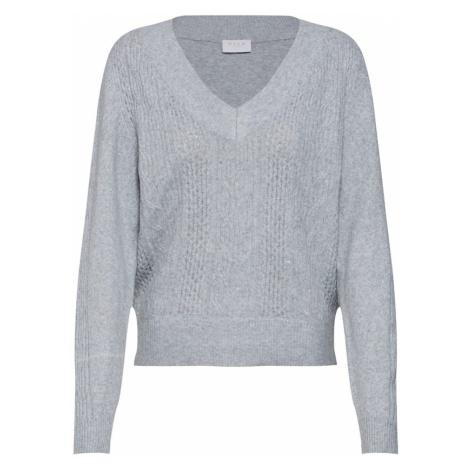 VILA Sweter 'VIARMA' jasnoszary