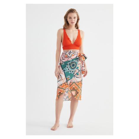 Trendyol Colorful Shawl Wzorzyste sznurowanie szczegółowa spódnica