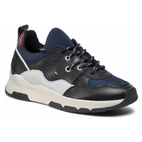Sneakersy TOMMY HILFIGER - Sporty Chunky Sneaker FW0FW04294 Navy Blazer CHS