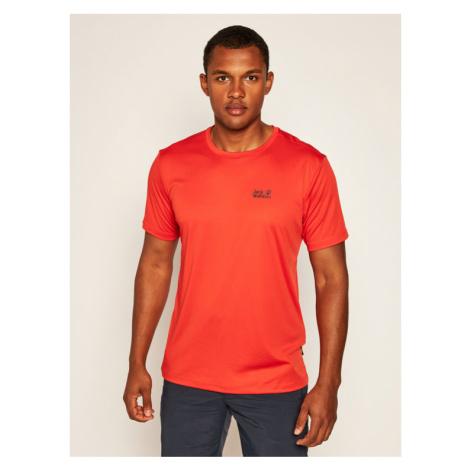 Jack Wolfskin Koszulka techniczna Tech T 1807071 Czerwony Regular Fit