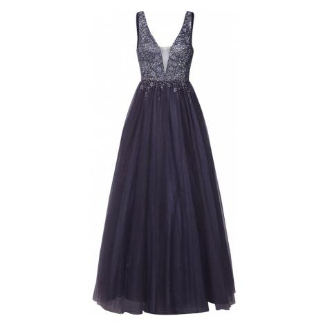 Unique Suknia wieczorowa antracytowy / srebrno-szary