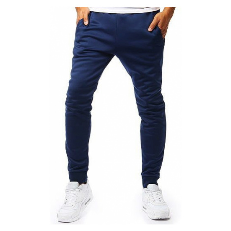 Men's sweatpants joggers navy blue UX2009 DStreet