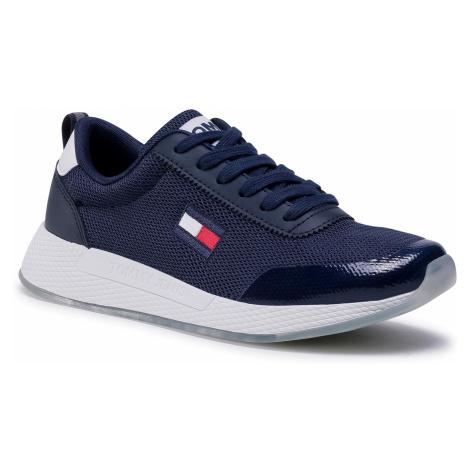Sneakersy TOMMY JEANS - Wmns Tommy Jeans Flexi Runner EN0EN00946 Twilight Navy C87 Tommy Hilfiger