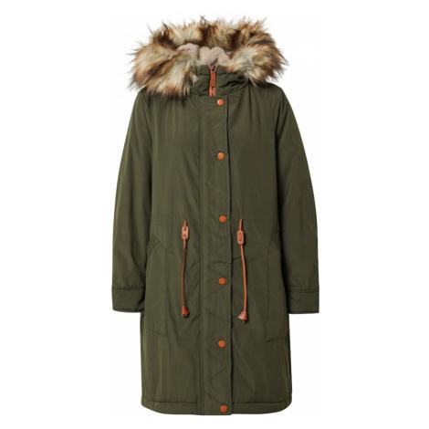 VILA Płaszcz zimowy 'Flavia' ciemnozielony / beżowy