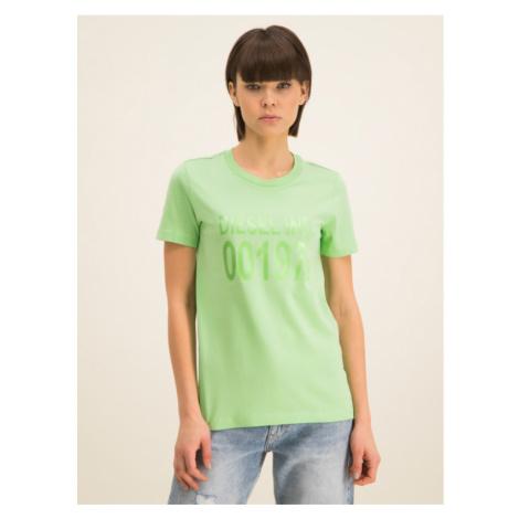 Diesel T-Shirt Sily 00SC3F 0CATJ Zielony Regular Fit