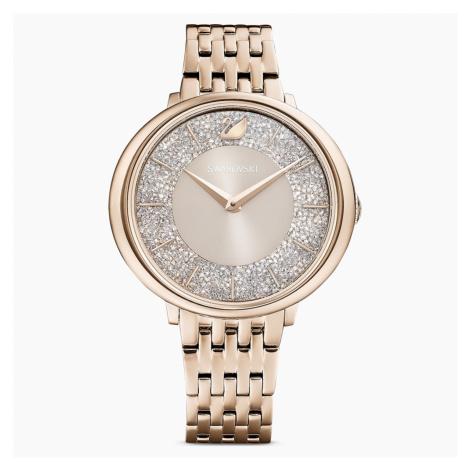 Zegarek Crystalline Chic, bransoleta z metalu, szary, powłoka PVD w odcieniu szampańskiego złota Swarovski