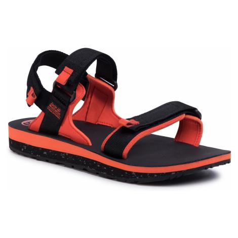 Sandały JACK WOLFSKIN - Outfresh Deluxe Sandal M 4039431 Black/Orange
