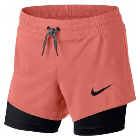 Nike G SHORT 2IN1 czarny S - Spodenki treningowe dziewczęce