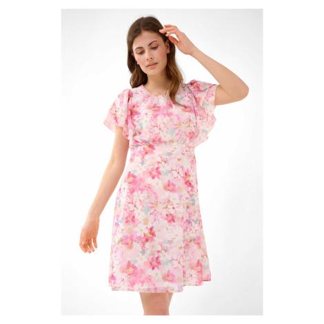 Rozkloszowana sukienka w kwiaty Orsay