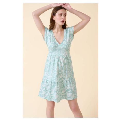 Bawełniana sukienka babydoll Orsay