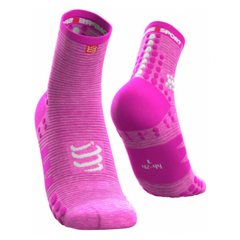 COMPRESSPORT Skarpetki do biegania długie ProRacing Socks v3.0 / Pink Melange