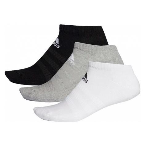 skarpetki adidas Performance Cush Low 3 Pack - Medium Gray Heather/White/Black