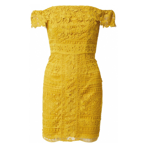 Chi Chi London Sukienka koktajlowa 'Amaleah' musztardowy