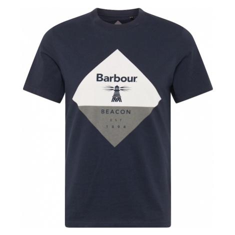 Barbour Beacon Koszulka granatowy / biały / nakrapiany szary
