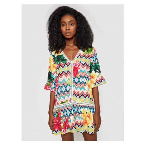 Desigual Sukienka letnia Miconos 21SWMW33 Kolorowy Relaxed Fit