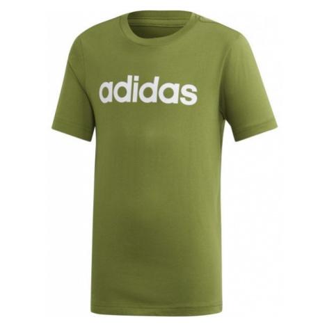 adidas ESSENTIALS LINEAR T-SHIRT zielony 164 - Koszulka chłopięca